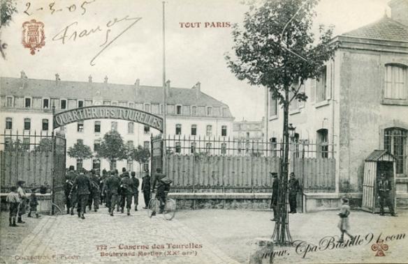 Paris XXe arrondissement Caserne/ prison des Tourelles