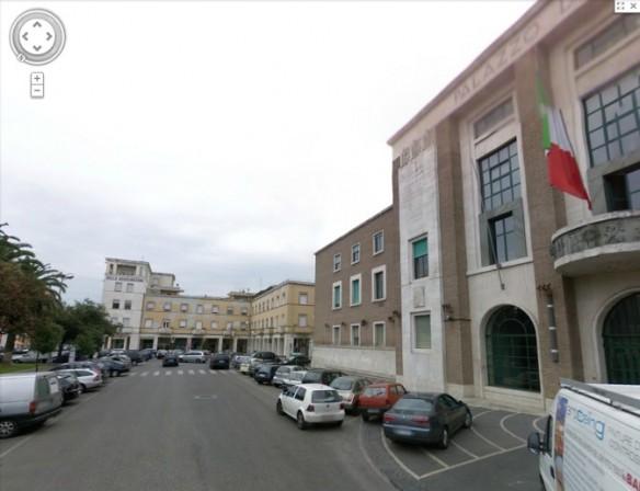 Latina, Palazzo del Governo, Google Street View
